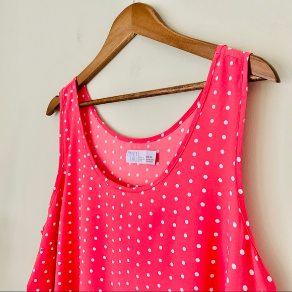 Time and Tru Tops - Time and Tru Polka Dot Shell NWT Size XXXL